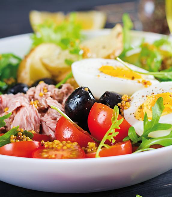 Ensalada de atún Olivia Garden restaurante mediterráneo Barcelona