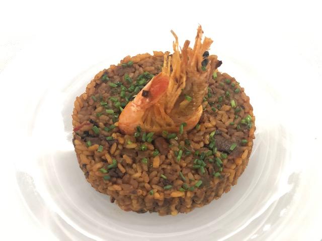 Arroz con langostinos restaurante mediterráneo Barcelona