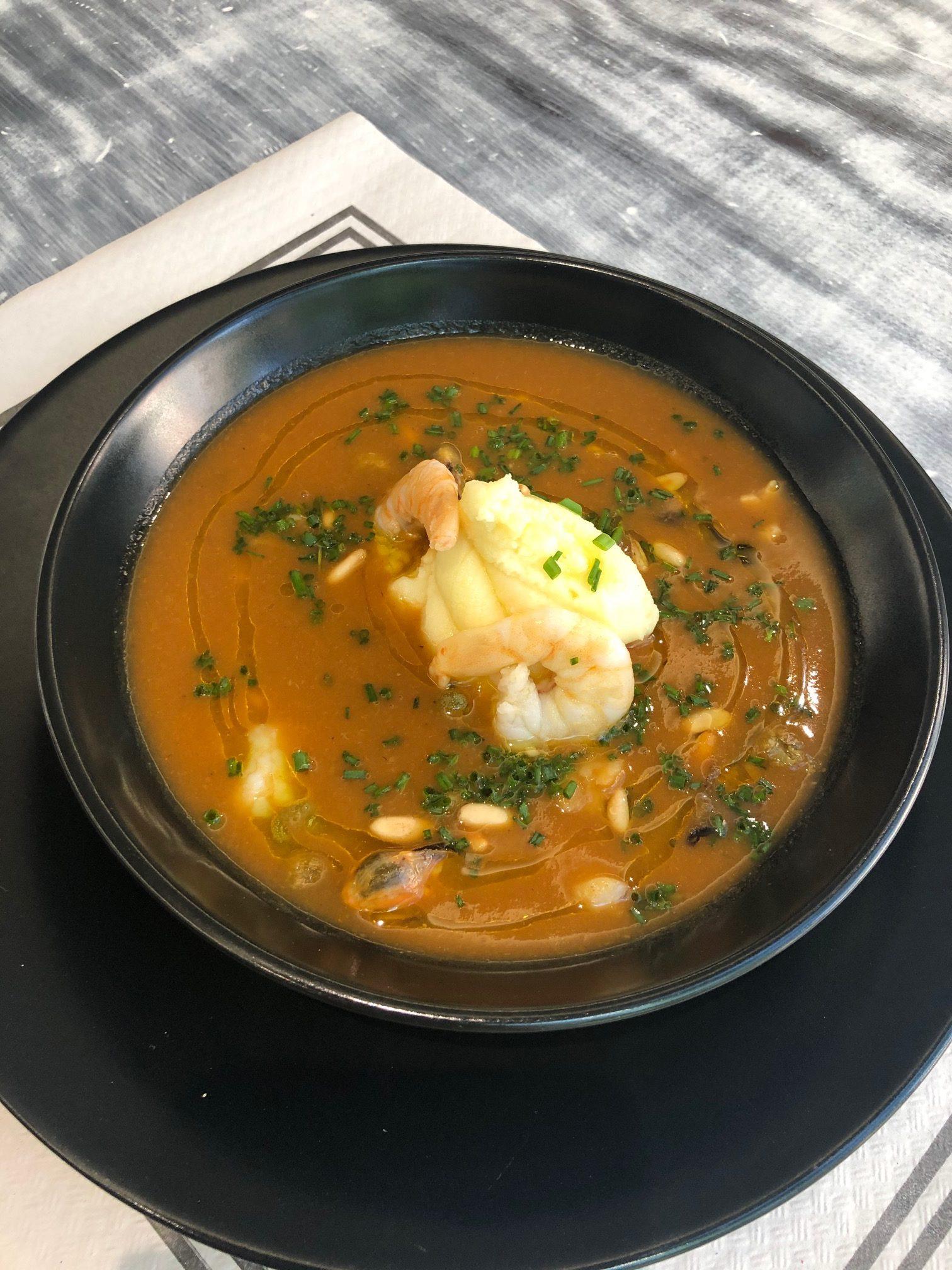 Burrida Ligure, sopa de pescado de la región de Liguria